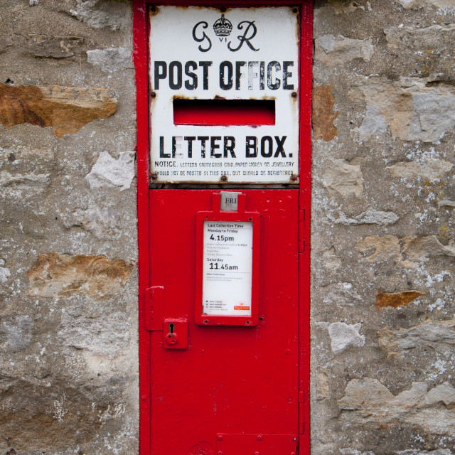 """Royal Mail Letterbox GR, Kettlewell"" stock image"