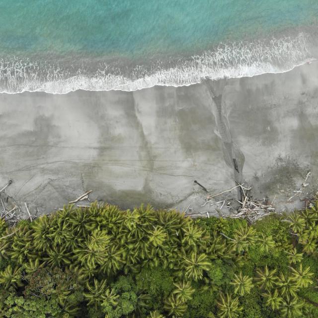 """""""Gogona island coast from the air"""" stock image"""