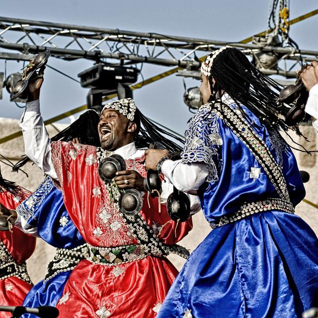 """Gnaoua musicians - Morocco"" stock image"