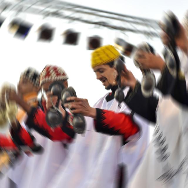 """""""Gnaoua dancer; Essaouira, Moroccos"""" stock image"""