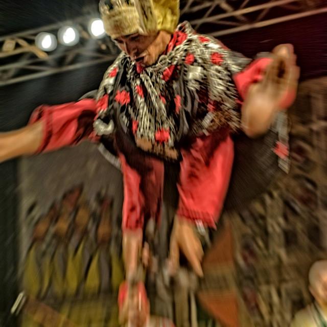 """""""Gnaoua dancer, Essaouira Gnaoua festival, Morocco"""" stock image"""