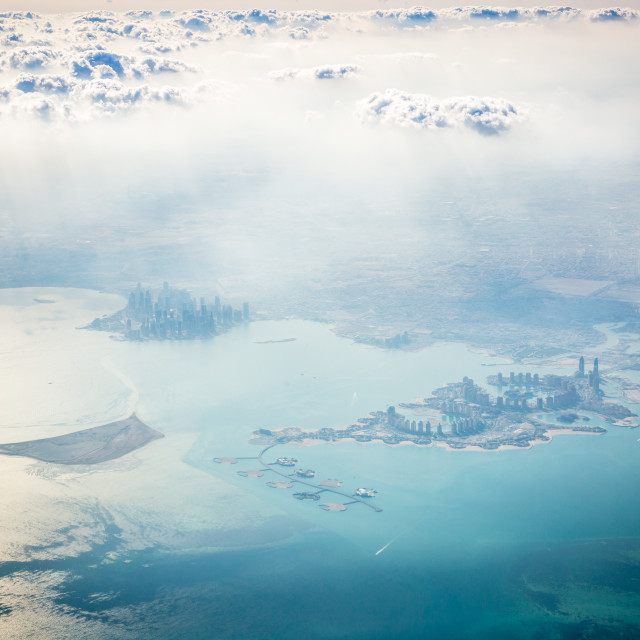 """Doha, From the air"" stock image"