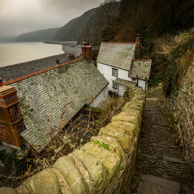 """Clovelly houses"" stock image"