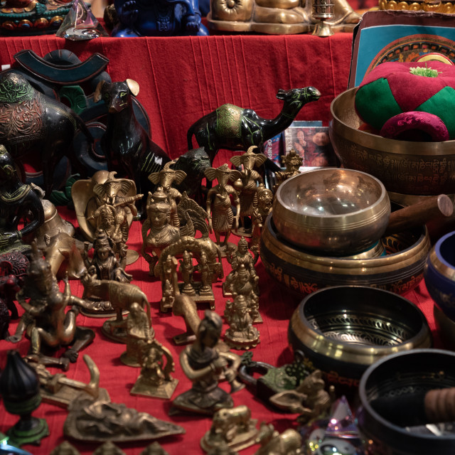 """""""Ornamental objects from all over the world"""" stock image"""