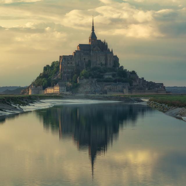 """The Mont Saint Michel, Normandy, France"" stock image"