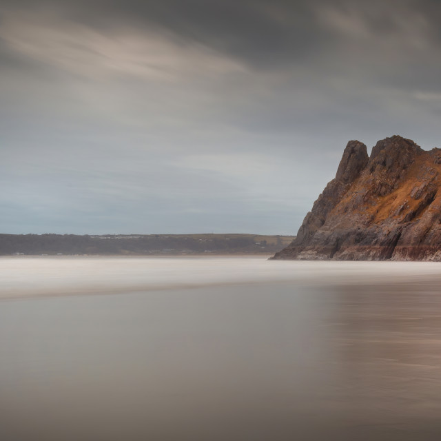 """""""The Great Tor on the Gower peninsula"""" stock image"""