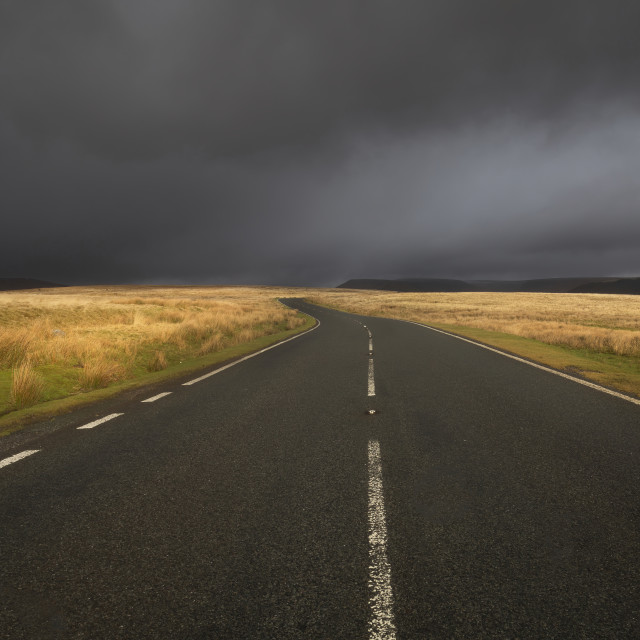 """""""The road to Penyfan"""" stock image"""