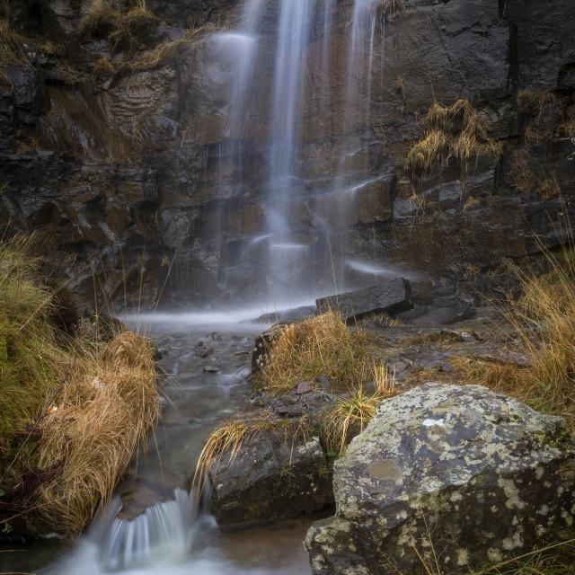 """Brecon Beacons waterfall"" stock image"