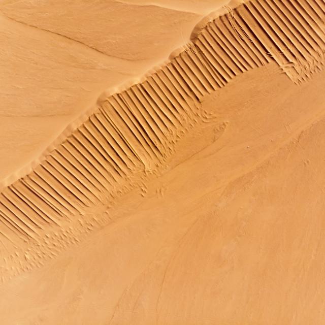 """Desert aerial view"" stock image"