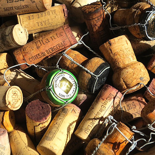 """""""Wine bottle cork collection"""" stock image"""