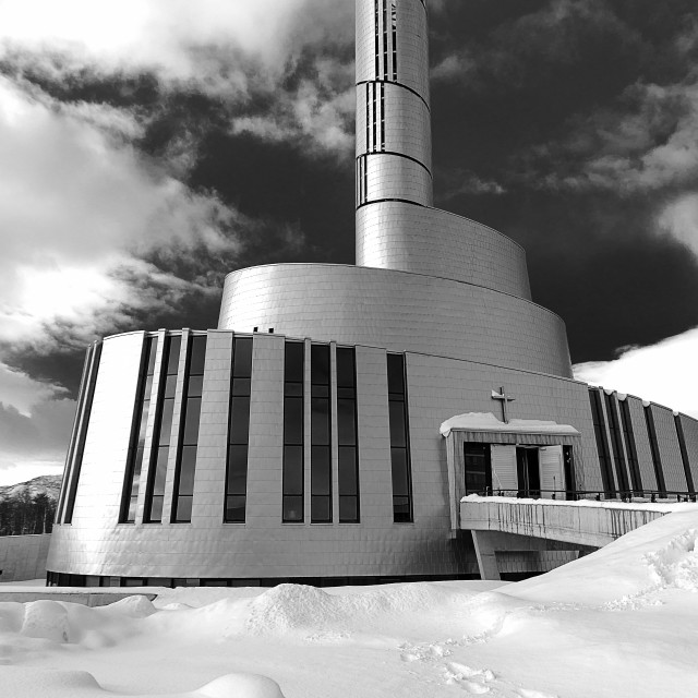 """""""Cathedral of the Northern Lights"""" stock image"""