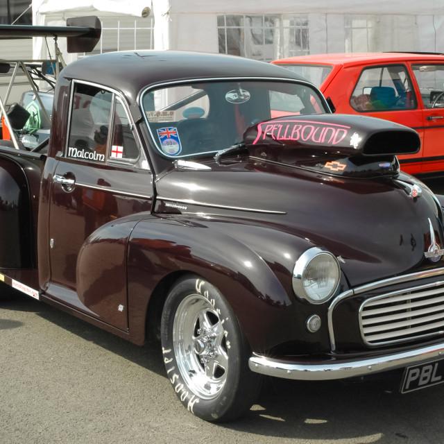 """""""Morris Minor funny car"""" stock image"""