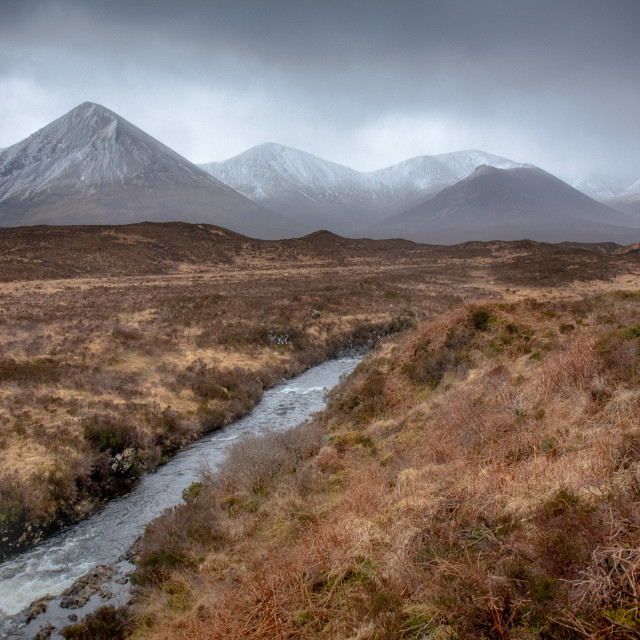 """""""Red Cuillin Mountains"""" stock image"""