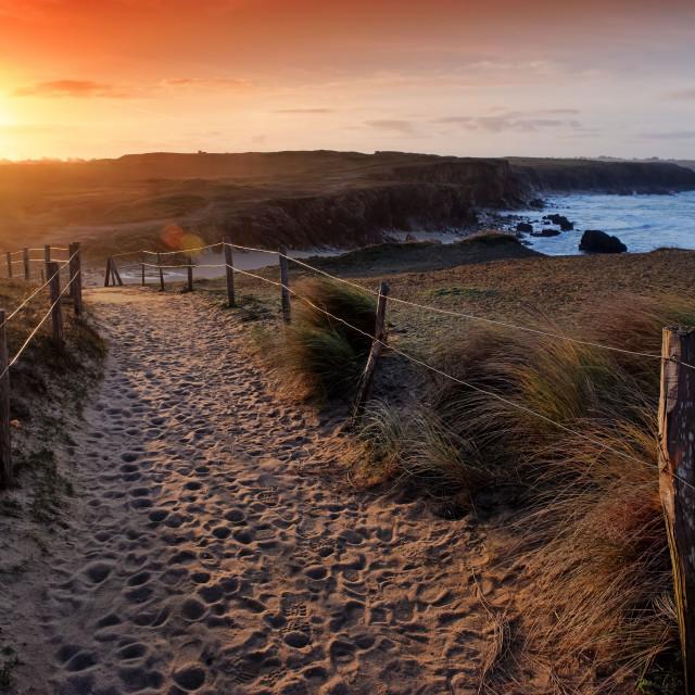 """Quiberon wild coast"" stock image"