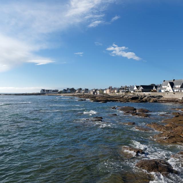 """""""Le Guilvinec coast"""" stock image"""
