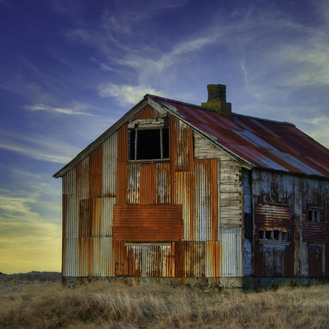 """Rusty house"" stock image"