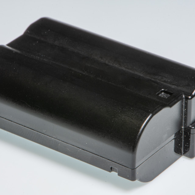 """""""Detail of a camera battery"""" stock image"""