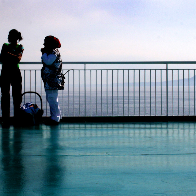 """""""On the ship deck"""" stock image"""