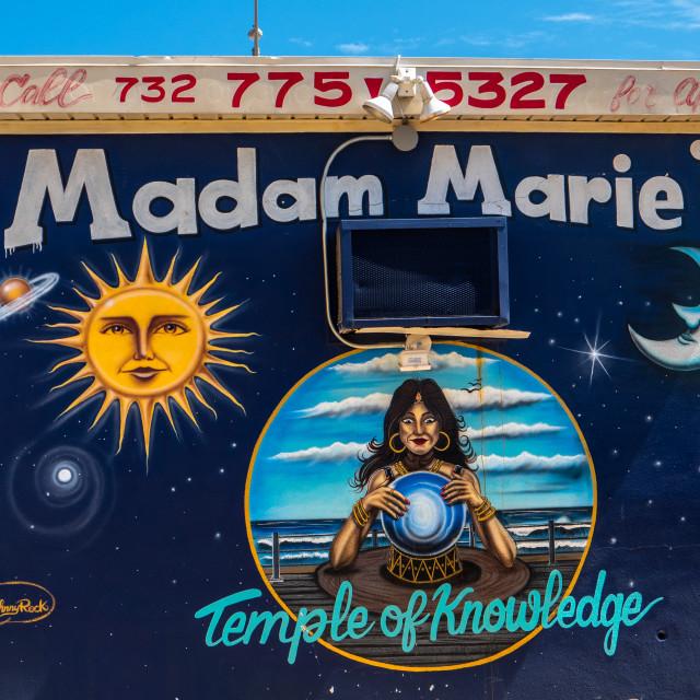 """Madam Marie's Fortune Teller Shop Asbury Park, New Jersey"" stock image"