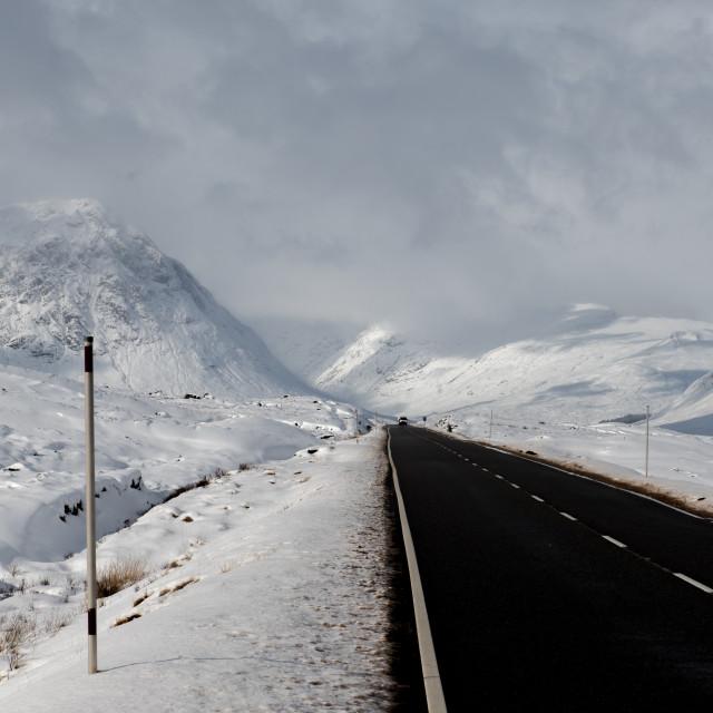 """""""Road to Glen Coe"""" stock image"""