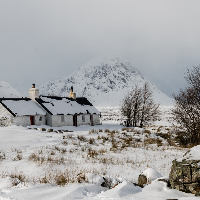 """Scottish Winter landscape"" stock image"