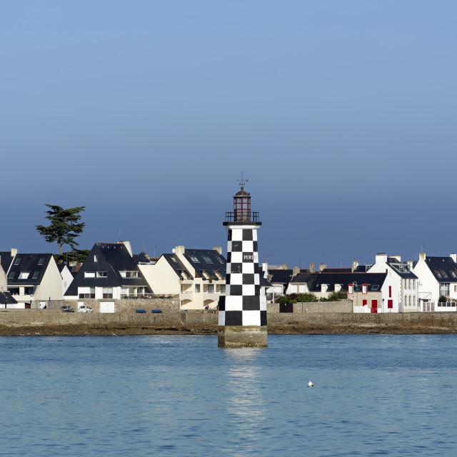 """""""Ile-Tudy lighthouse"""" stock image"""