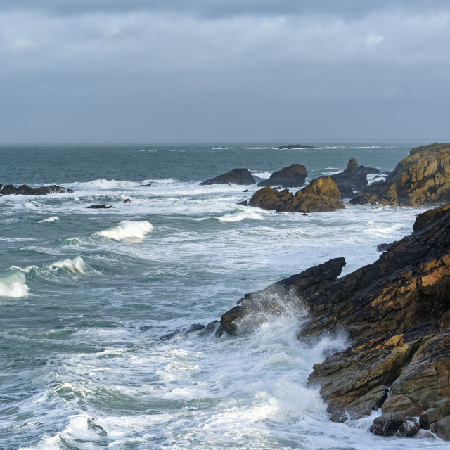 """Waves on the coast"" stock image"