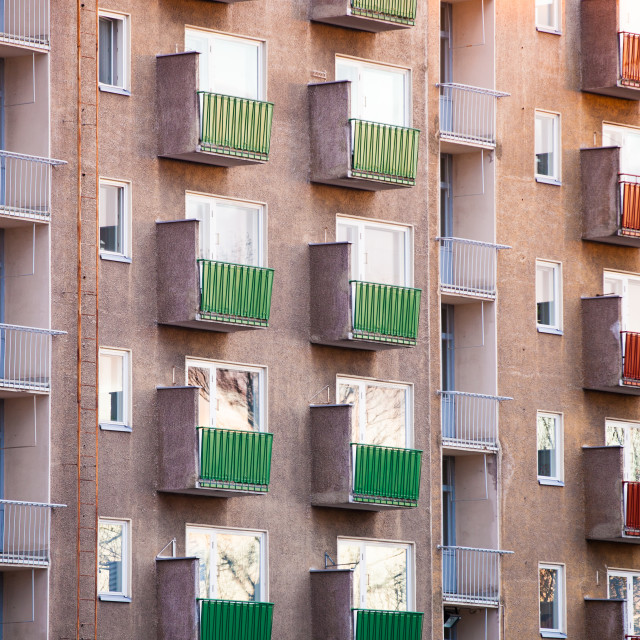 """Colourful Balconies"" stock image"