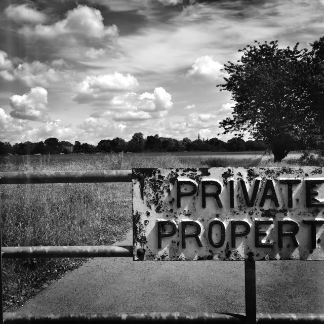 """Private Property"" stock image"