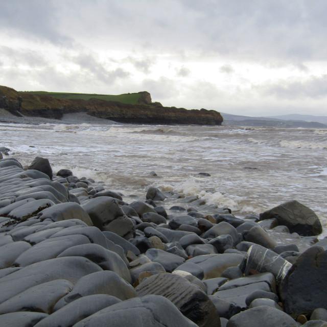 """Somerset coastline at Kilve"" stock image"
