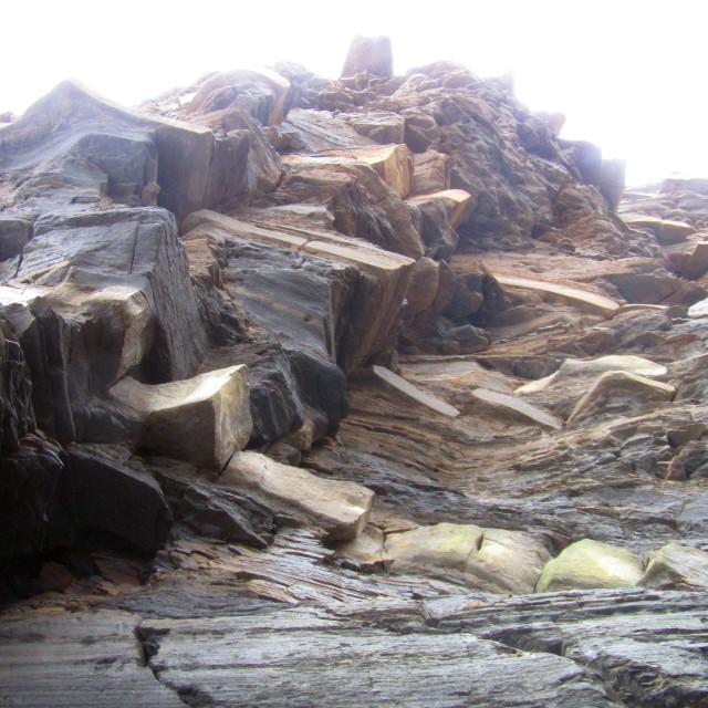 """Kilve coast rocks"" stock image"