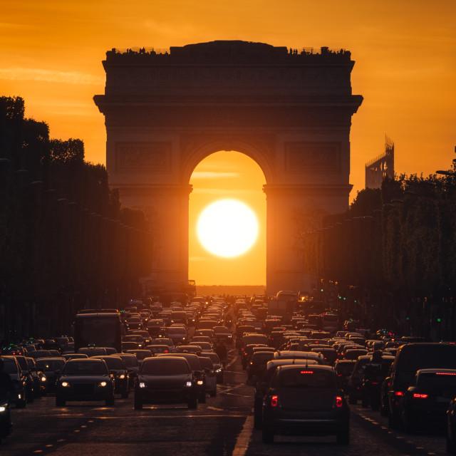 """""""Arc de Triomphe, Paris, France"""" stock image"""