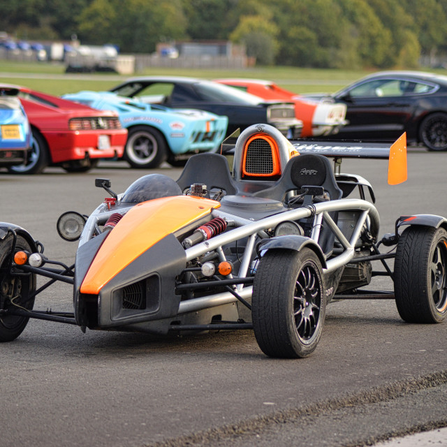 """Ariel atom at a track day"" stock image"