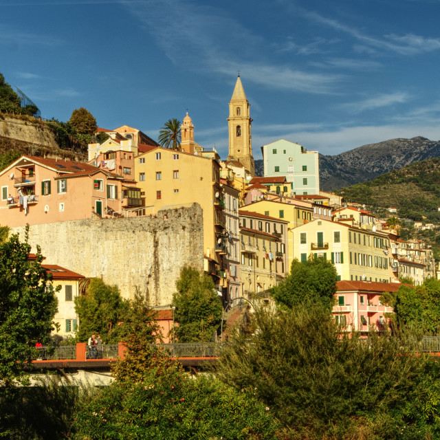 """The old town, ventimiglia, Italy"" stock image"