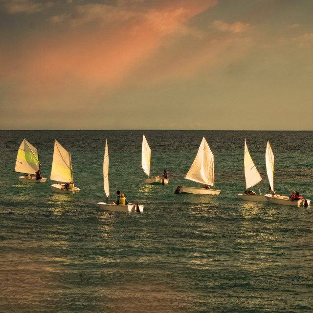 """Sailing in the South of France"" stock image"
