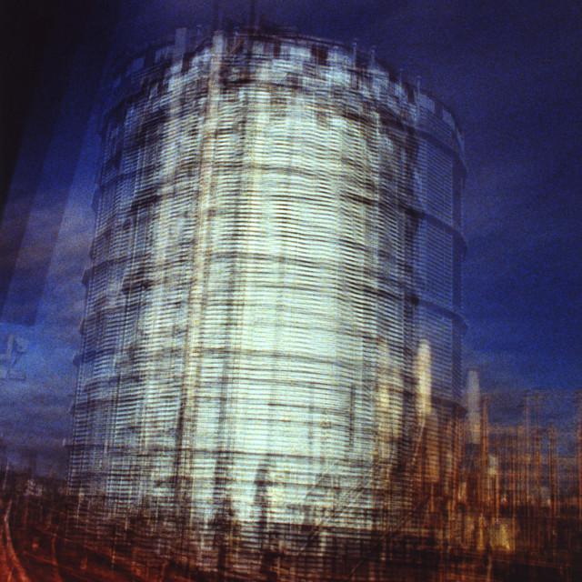 """Battersea Gas Works"" stock image"