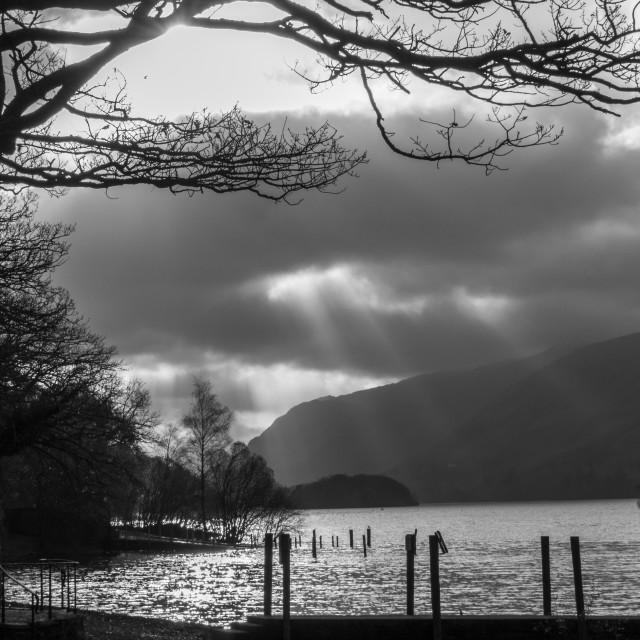 """Derwent Water Dramatic Sky"" stock image"