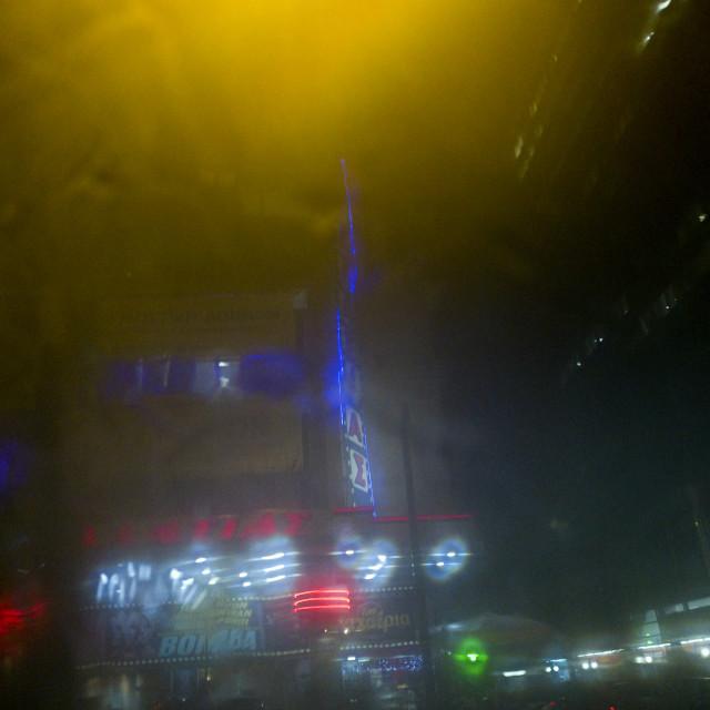 """Foggy Night, Athens"" stock image"