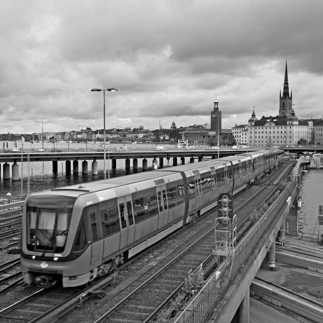 """Stockholm city life"" stock image"