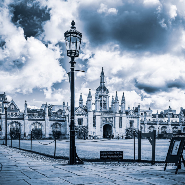 """King's College Cambridge UK."" stock image"