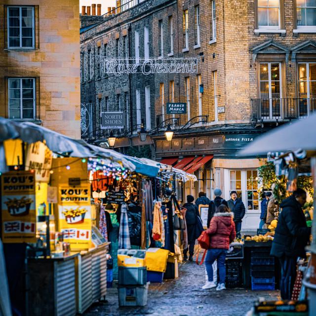 """Market Square Cambridge UK."" stock image"