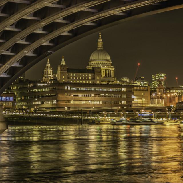 """London at Night"" stock image"