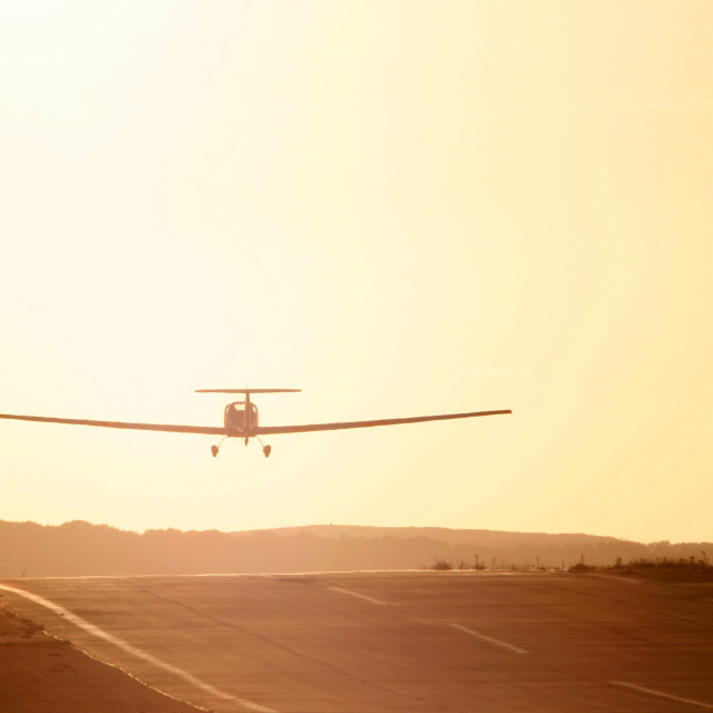 """""""Light aircraft taking off"""" stock image"""