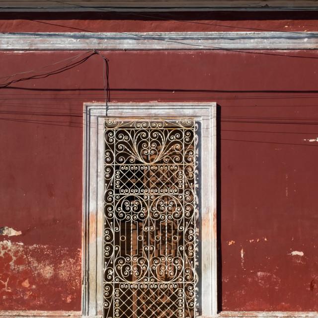 """""""Facade of a house, Merida"""" stock image"""