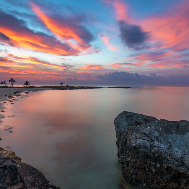 """Akumal Sunrise"" stock image"