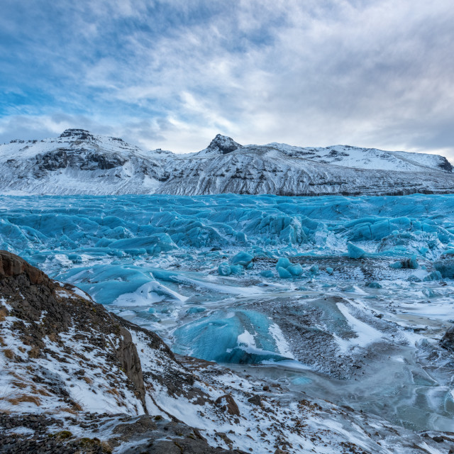"""Svínafellsjökull Glacier in Iceland"" stock image"