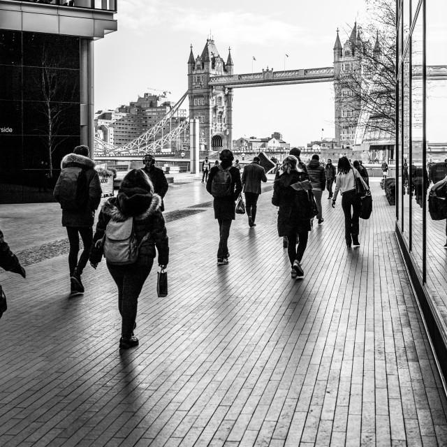 """Morning Commute, More London, UK"" stock image"