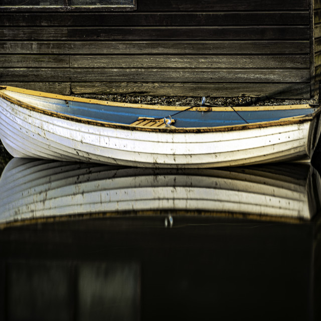 """The Pleasant Row boat"" stock image"