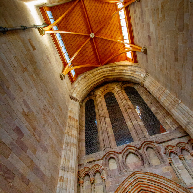 """""""Bolton Abbey, Priory Church, West Tower Interior"""" stock image"""
