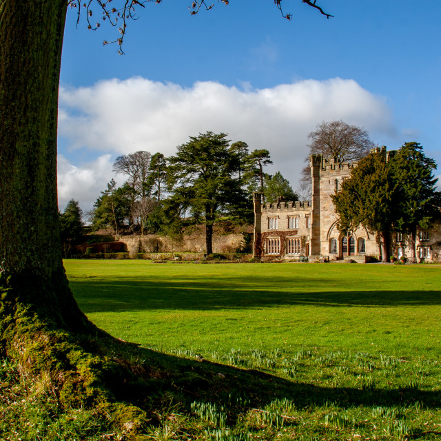 """Bolton Abbey Hall"" stock image"